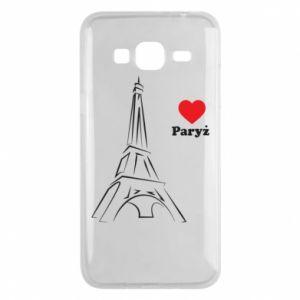 Etui na Samsung J3 2016 Paryżu, kocham cię