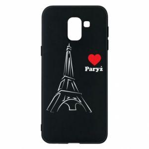 Etui na Samsung J6 Paryżu, kocham cię