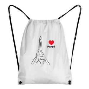 Plecak-worek Paryżu, kocham cię - PrintSalon