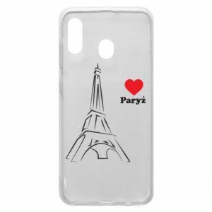Etui na Samsung A20 Paryżu, kocham cię