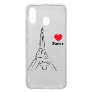 Etui na Samsung A30 Paryżu, kocham cię