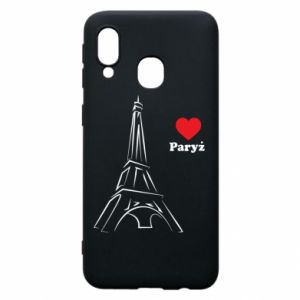 Etui na Samsung A40 Paryżu, kocham cię