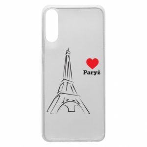 Etui na Samsung A70 Paryżu, kocham cię