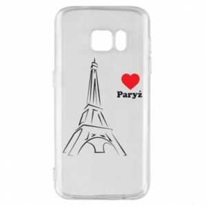 Etui na Samsung S7 Paryżu, kocham cię - PrintSalon