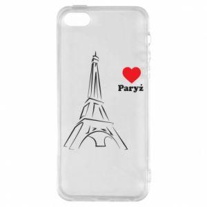 Etui na iPhone 5/5S/SE Paryżu, kocham cię - PrintSalon