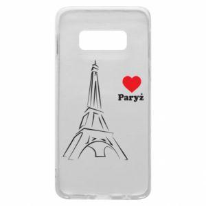 Etui na Samsung S10e Paryżu, kocham cię