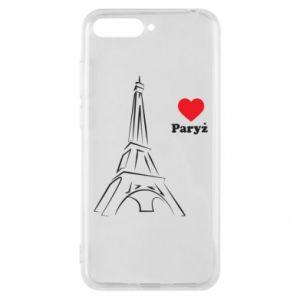 Etui na Huawei Y6 2018 Paryżu, kocham cię