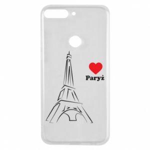 Etui na Huawei Y7 Prime 2018 Paryżu, kocham cię