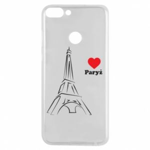 Etui na Huawei P Smart Paryżu, kocham cię - PrintSalon