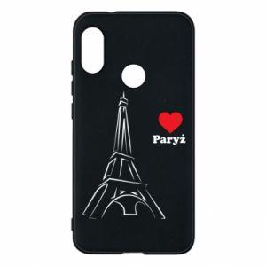 Etui na Mi A2 Lite Paryżu, kocham cię