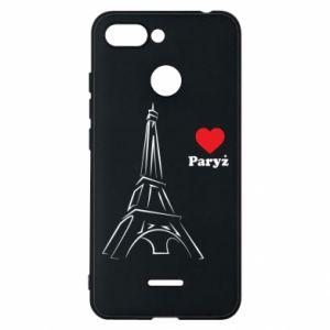 Etui na Xiaomi Redmi 6 Paryżu, kocham cię