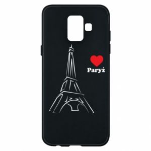 Etui na Samsung A6 2018 Paryżu, kocham cię - PrintSalon