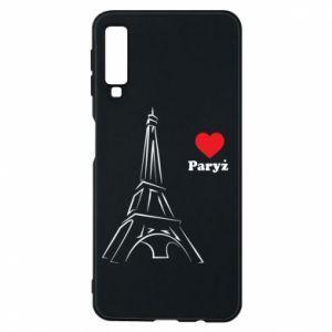 Etui na Samsung A7 2018 Paryżu, kocham cię