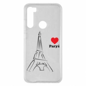 Etui na Xiaomi Redmi Note 8 Paryżu, kocham cię