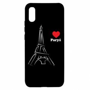 Etui na Xiaomi Redmi 9a Paryżu, kocham cię