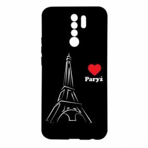 Etui na Xiaomi Redmi 9 Paryżu, kocham cię