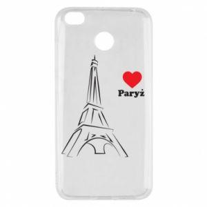 Etui na Xiaomi Redmi 4X Paryżu, kocham cię