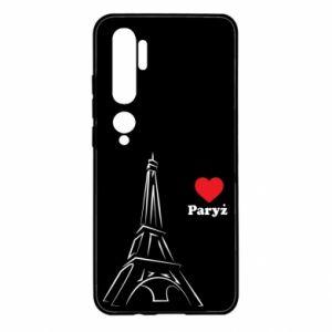 Etui na Xiaomi Mi Note 10 Paryżu, kocham cię