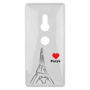 Etui na Sony Xperia XZ2 Paryżu, kocham cię