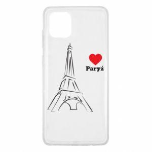 Etui na Samsung Note 10 Lite Paryżu, kocham cię