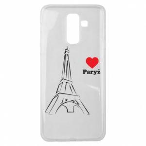Etui na Samsung J8 2018 Paryżu, kocham cię