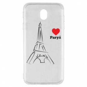 Etui na Samsung J7 2017 Paryżu, kocham cię