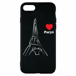 Etui na iPhone 8 Paryżu, kocham cię - PrintSalon