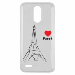Etui na Lg K10 2017 Paryżu, kocham cię