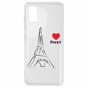 Etui na Samsung A41 Paryżu, kocham cię