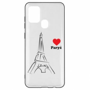 Etui na Samsung A21s Paryżu, kocham cię