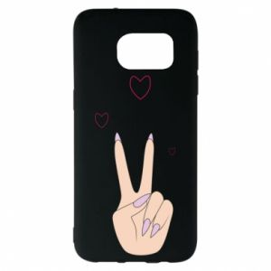 Samsung S7 EDGE Case Peace and love