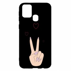 Samsung M31 Case Peace and love