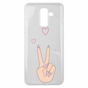 Samsung J8 2018 Case Peace and love