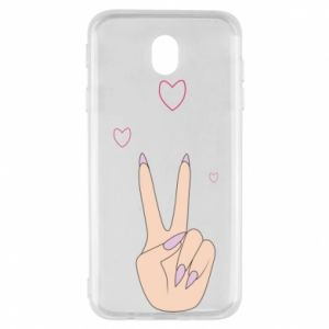 Samsung J7 2017 Case Peace and love
