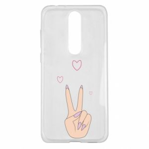 Nokia 5.1 Plus Case Peace and love