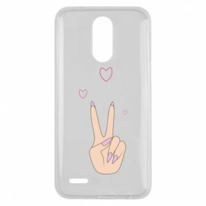 Lg K10 2017 Case Peace and love