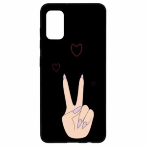 Samsung A41 Case Peace and love