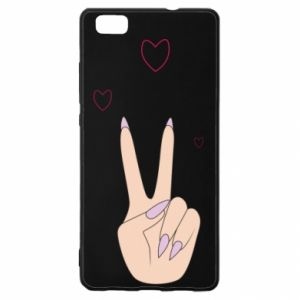 Huawei P8 Lite Case Peace and love