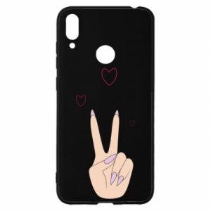 Huawei Y7 2019 Case Peace and love