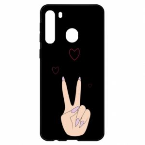 Samsung A21 Case Peace and love