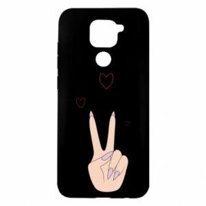 Xiaomi Redmi Note 9 / Redmi 10X case % print% Peace and love