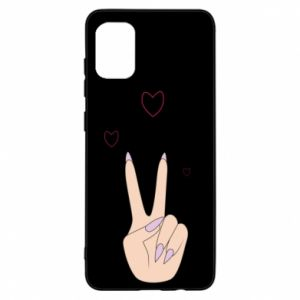 Samsung A31 Case Peace and love