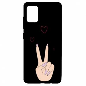 Samsung A51 Case Peace and love