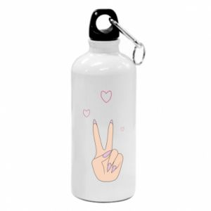 Water bottle Peace and love