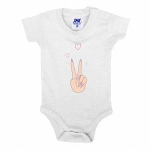 Baby bodysuit Peace and love