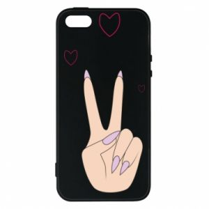 Etui na iPhone 5/5S/SE Peace and love