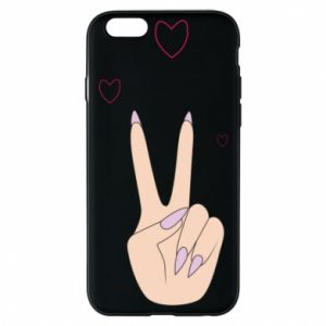 Etui na iPhone 6/6S Peace and love