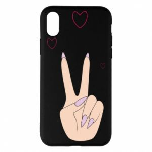 Etui na iPhone X/Xs Peace and love