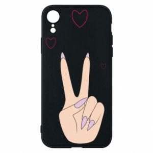 Etui na iPhone XR Peace and love