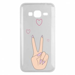 Etui na Samsung J3 2016 Peace and love
